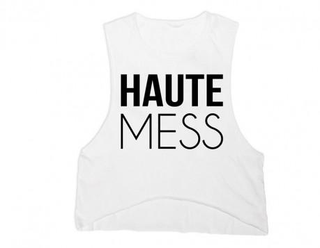 Haute Mess Tank – White